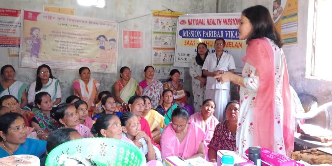 Awareness among women voters by Keerthi Jalli along with SVEEP team