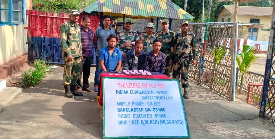 Three Held By Border Security Force In West Khasi Hills, Meghalaya