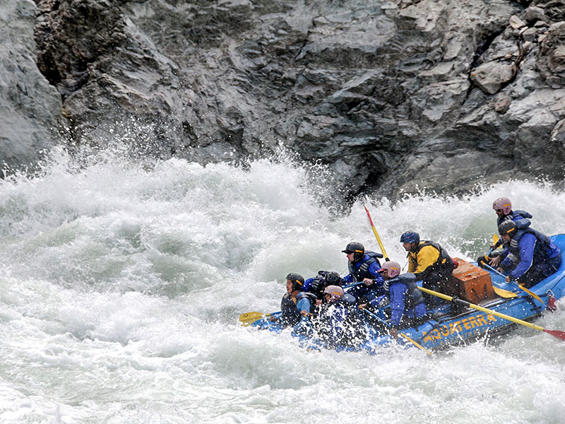 Rafting expedition by Army from Aalo military station in West Siang district