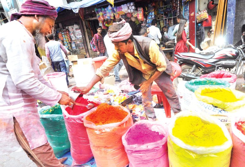 Painting The City With Holi