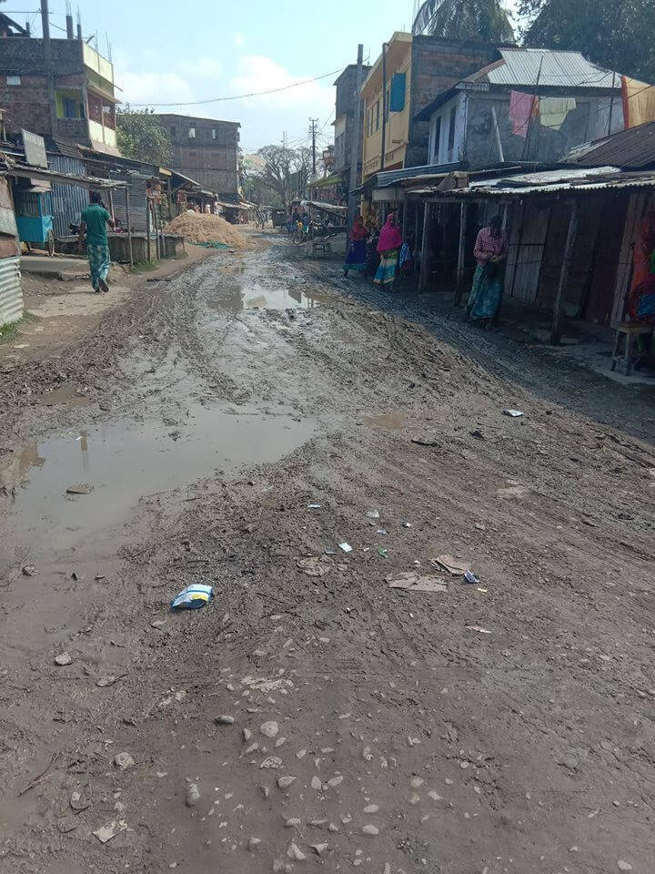 Katakhal station road back to square one