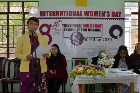 Women's Day observed  by the office of the District Social Welfare Officer, East Khasi Hills
