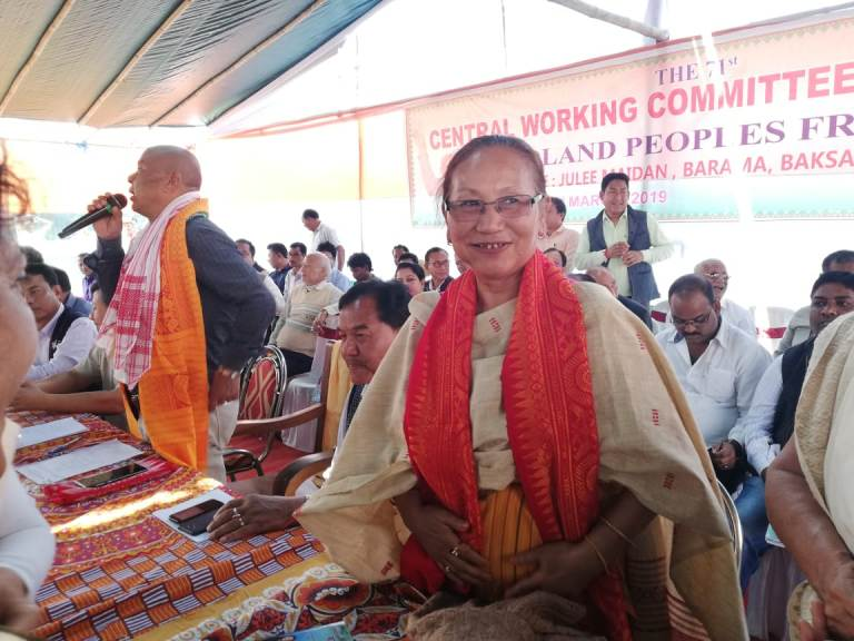 BTC Chief formally announced Pramila Rani Brahma as MP candidate from Kokrajhar, claims ABSU as biggest challenge