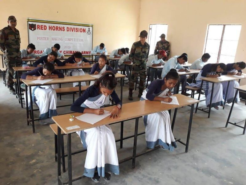 Poster Competition By Red Horns Division At Panbari High School