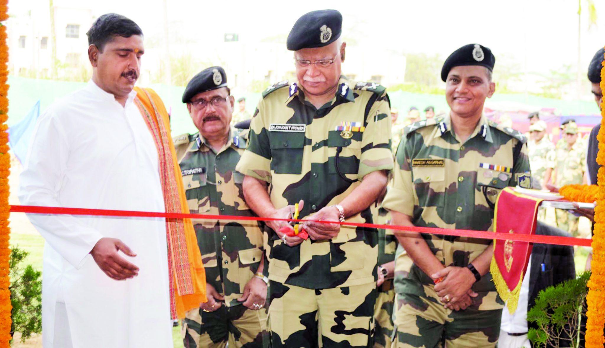 BSF Director General Rajni Kant Mishra inaugurates gym