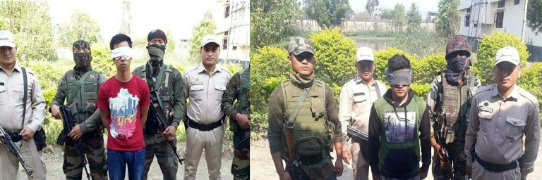 Cadres of proscribed UG groups held in three separate operations led by Assam Rifles
