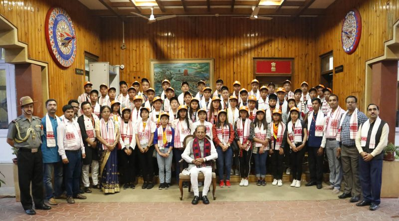 Governor Jagdish Mukhi Interacts With National Integration Contingent