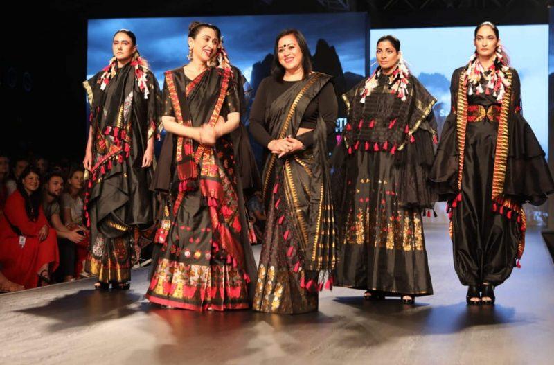 Karisma Kapoor Flaunts Mekhla Chador At LMIFW