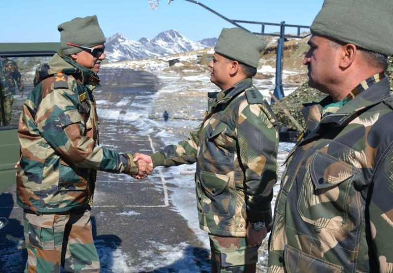 Army Vice Chief Devraj Anbu Visits Forward Posts In Sikkim