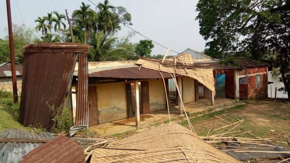 Century-old rural school Banskandi Madhyabanga School in shambles