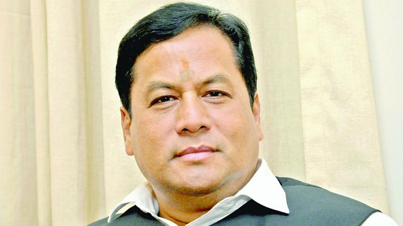 CM Sarbananda Sonowal reviews RCC porcupine system installation work