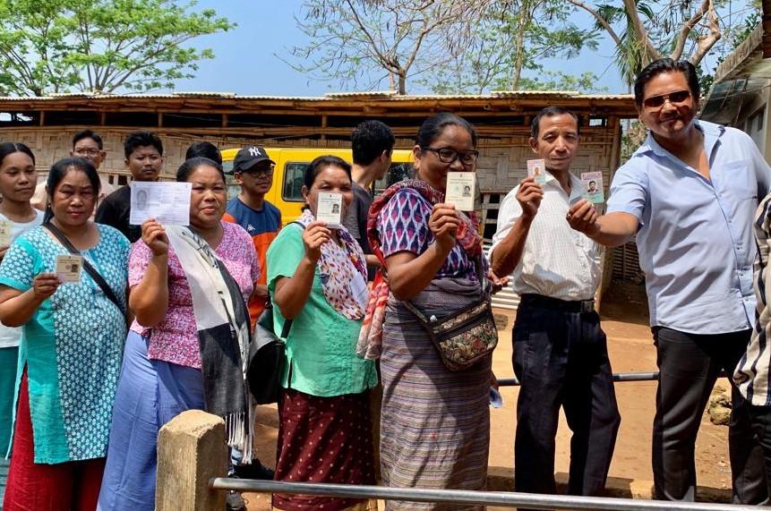 Chief Minister Conrad K Sangma casts vote in Tura