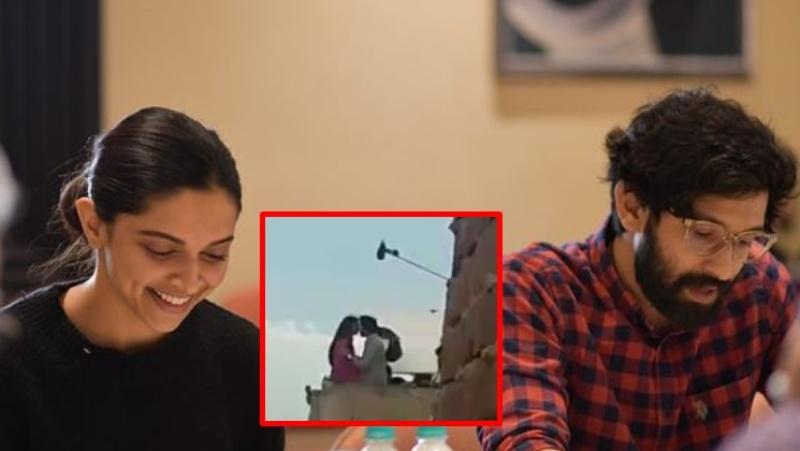 Deepika Padukone, Vikrant's Kissing Scene Gets Leaked