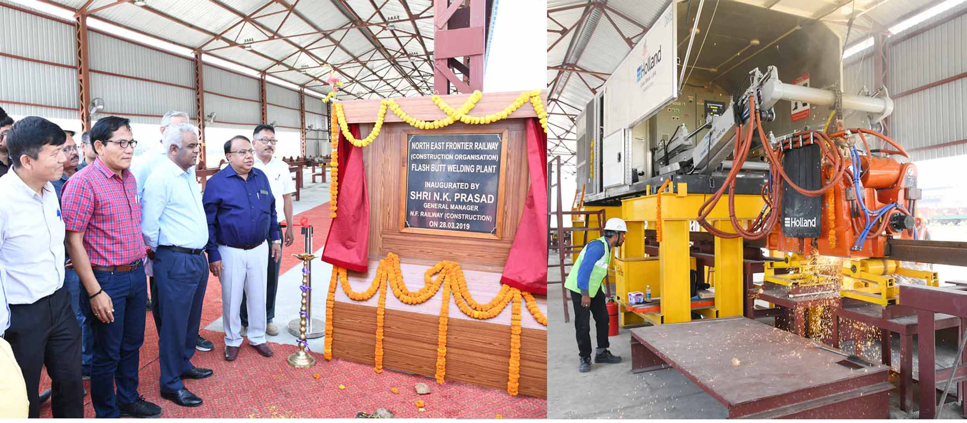 Flash butt welding plant inaugurated at New Bongaigaon by N.F.Railway General Manager