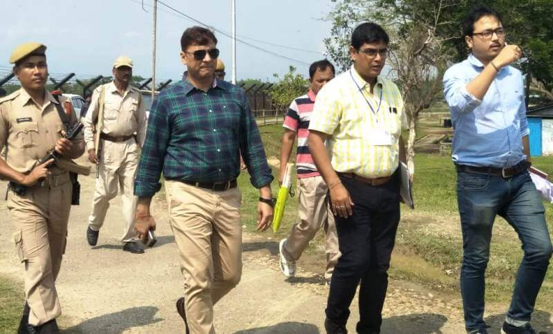 General Observer Sunil Kumar Yadav visits polling stations in Cachar