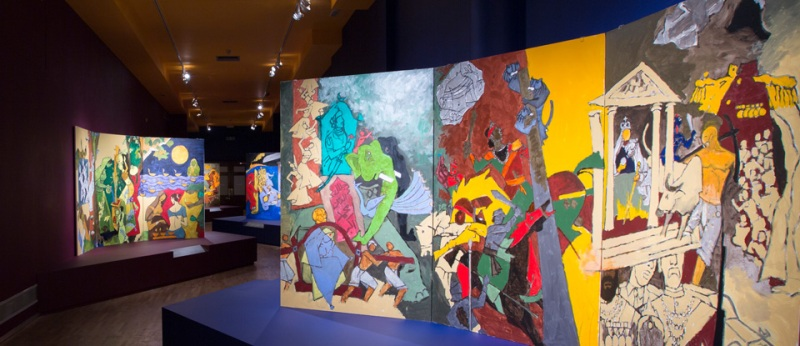 Maneswar Brahma Painting Exhibition At Assam State Museum