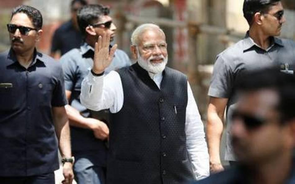 Narendra Modi files nomination papers from Varanasi
