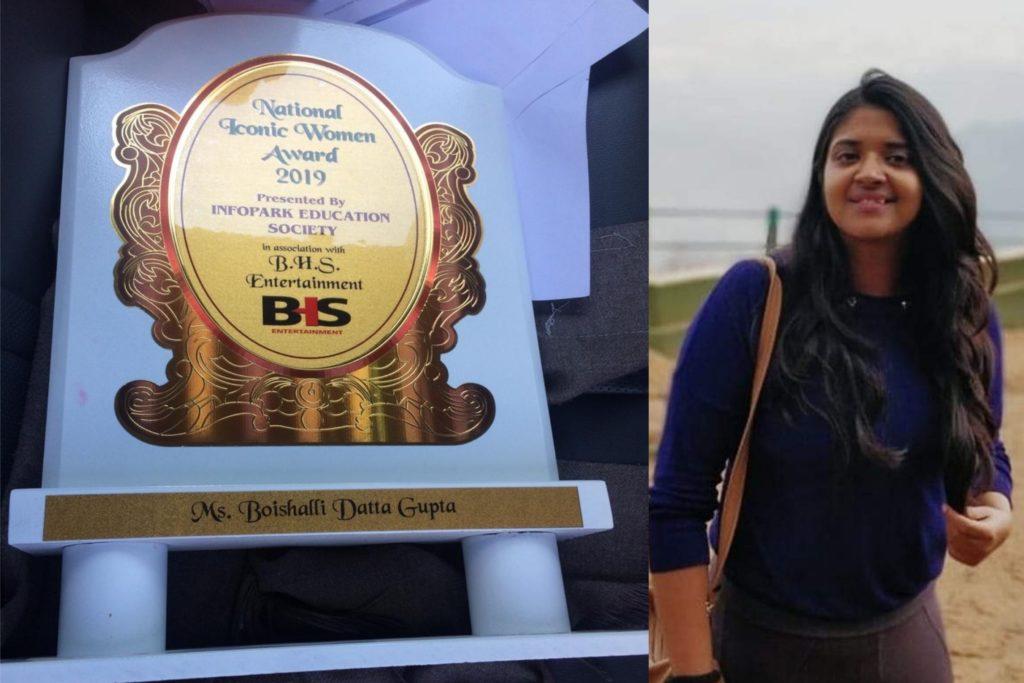 National Iconic Women Award 2019 to Boishali Datta Gupta