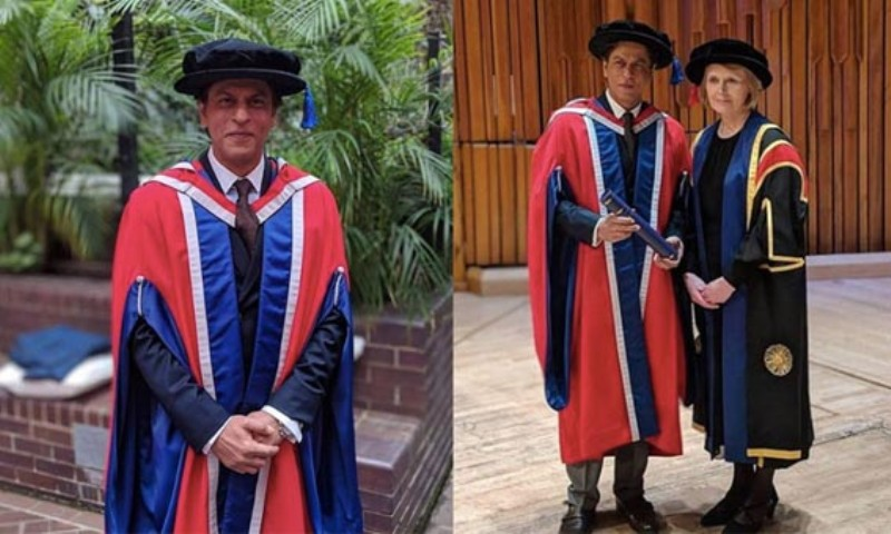 Shah Rukh Khan Felicitated in London By The University of Law