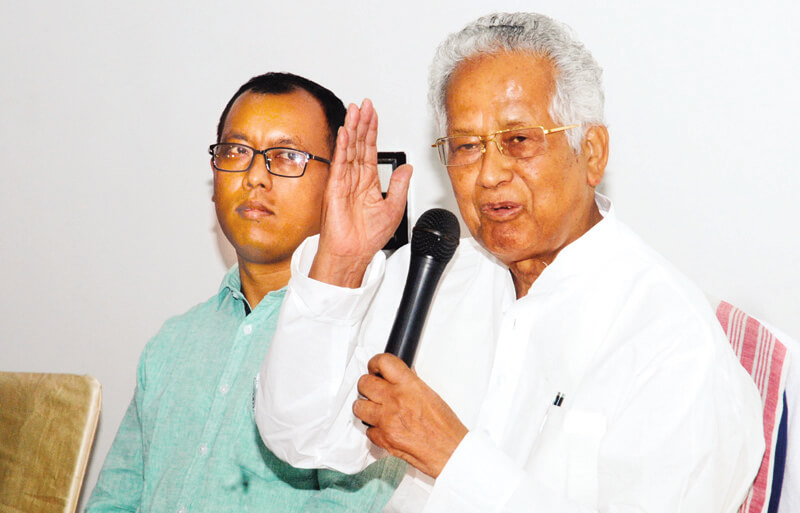 Former CM Tarun Gogoi slams Bharatiya Janata Party for stirring communal disparity