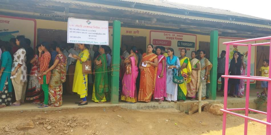 62.13% polling recorded till 3 PM in Assam