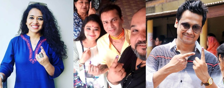 See Pictures: Artists cast vote on Phase-III of Lok Sabha Elections in Guwahati