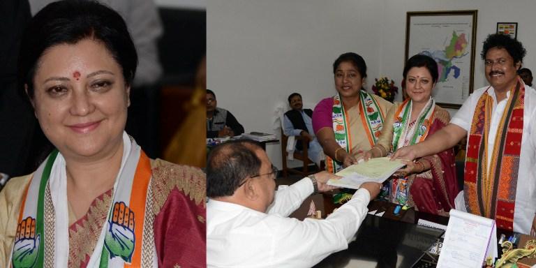 Guwahati parliamentary INC candidate Bobbeeta Sharma submits her nomination in Amingaon
