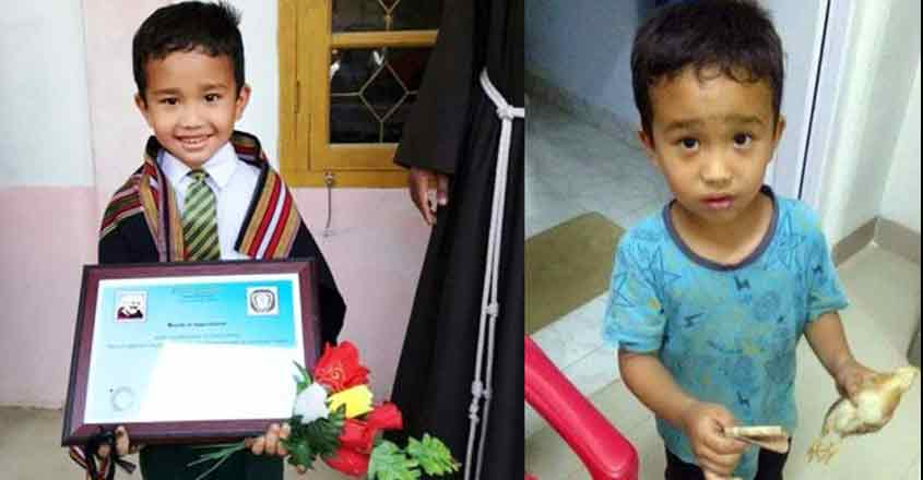 PETA to honour six year old Derek C. Lalchanhima with Compassionate Kid Award