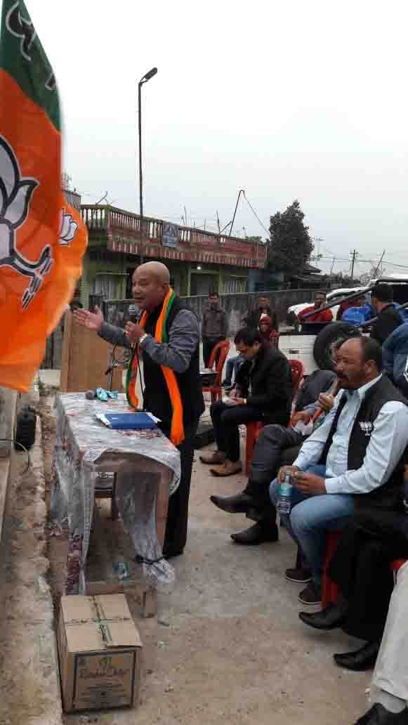 BJP candidate for Shillong seat Sanbor Shullai hits the road