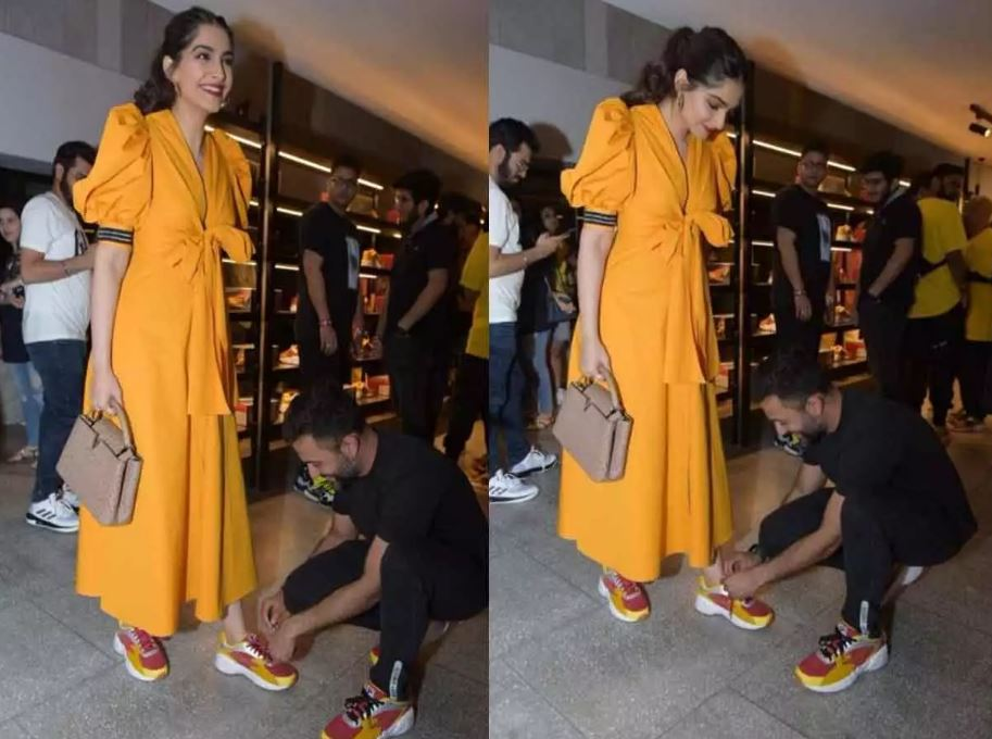 Love is tying shoelaces: Sonam Kapoor, Anand S. Ahuja show how
