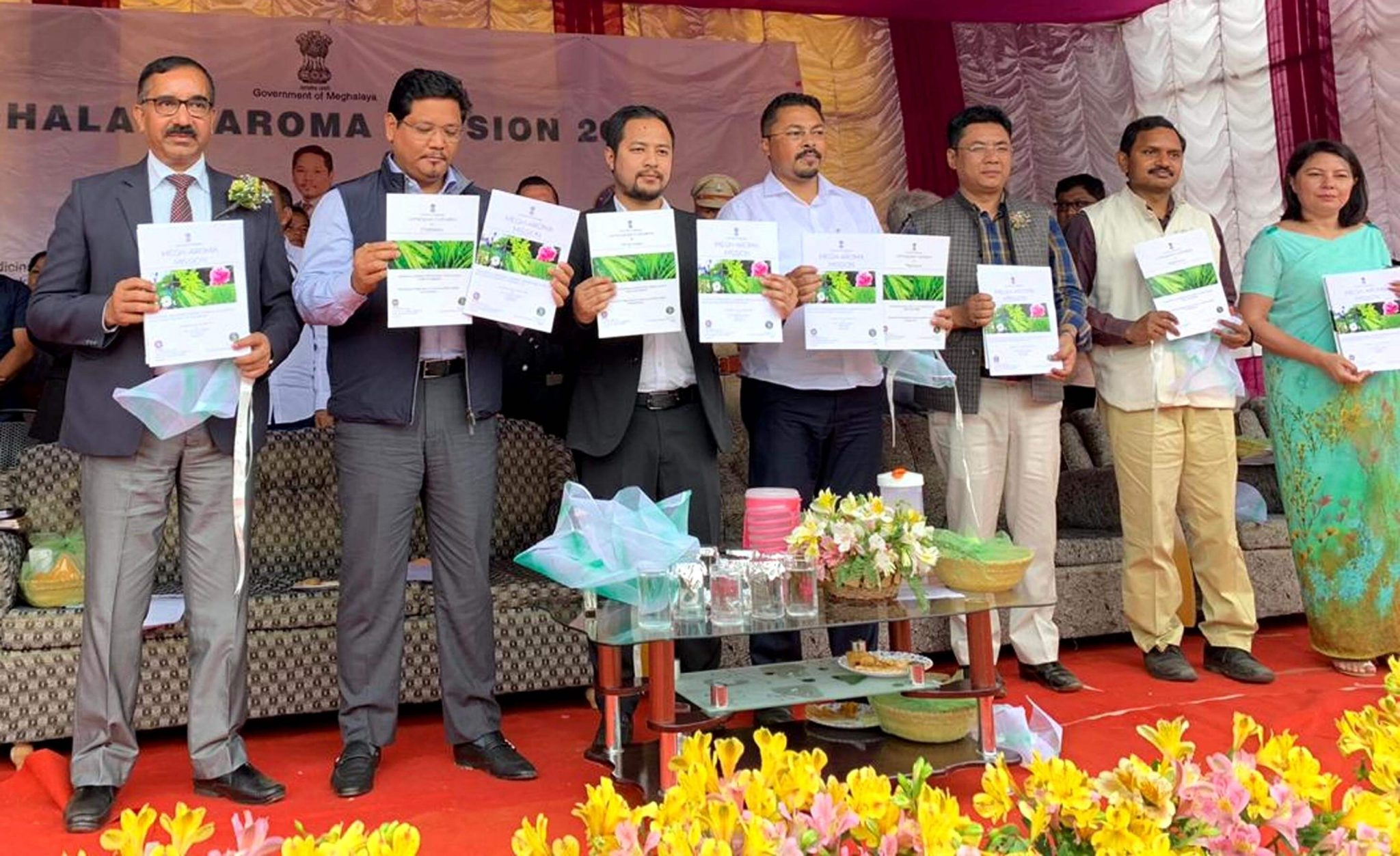Chief Minister Conrad K Sangma launches Aroma Mission and the Processing Unit of Essential Oil in Ri Bhoi