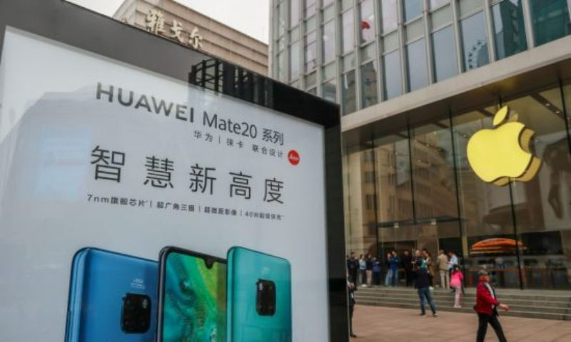 Chinese Shout 'Boycott Apple' As US Goes After Huawei