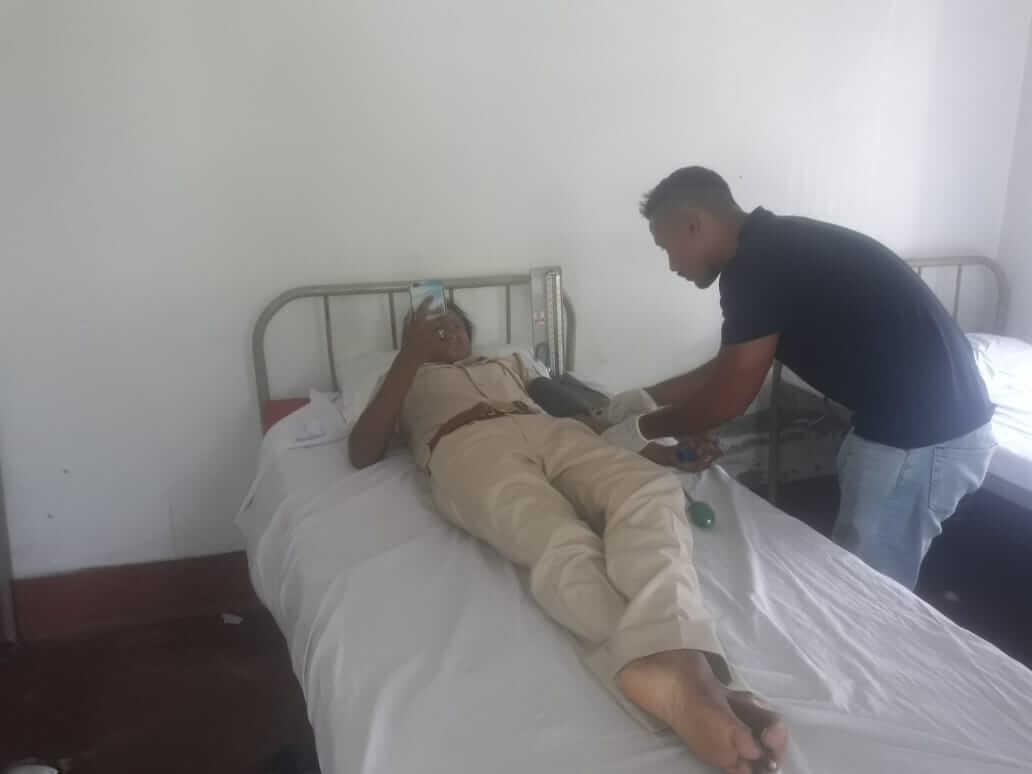 Blood donation camp held at Langharjan TE Hospital in Naharkatia by Blood Bank, AMCH, Dibrugarh