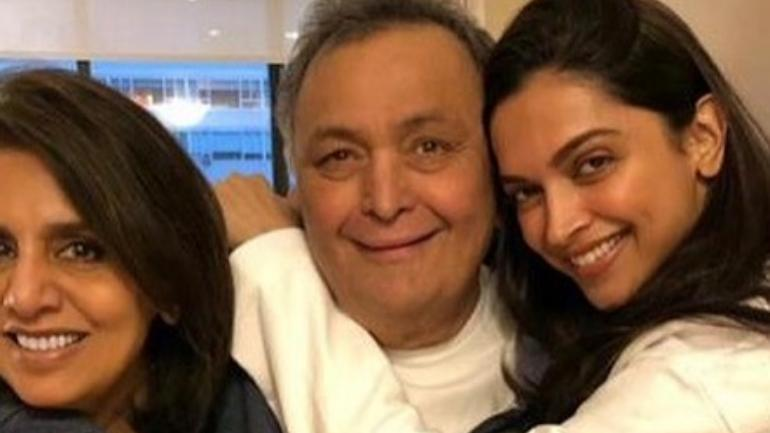Deepika Padukone Meets Rishi Kapoor, Neetu Kapoor In New York