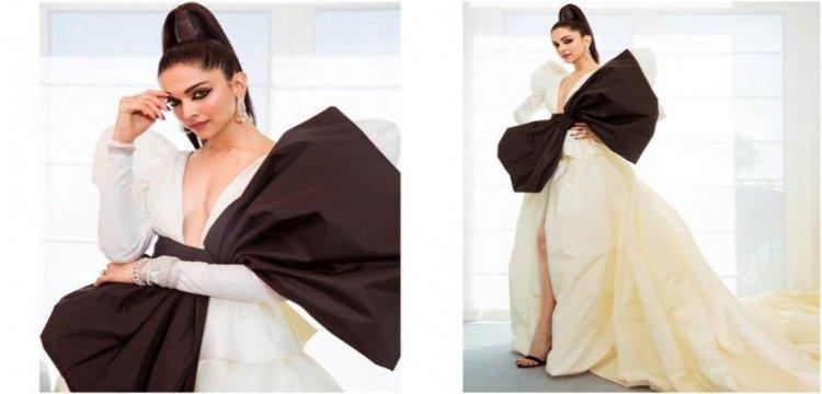 Deepika Padukone Goes Dramatic With Big Bow