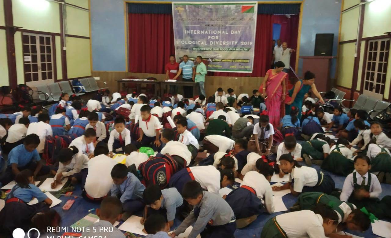 Drawing competition held in Haflong in conjunction with the upcoming International Day for Biological Diversity