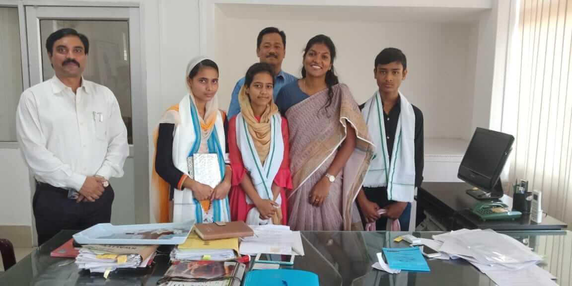 Hailakandi Deputy Commissioner Keerthi Jalli felicitates HSLC achievers