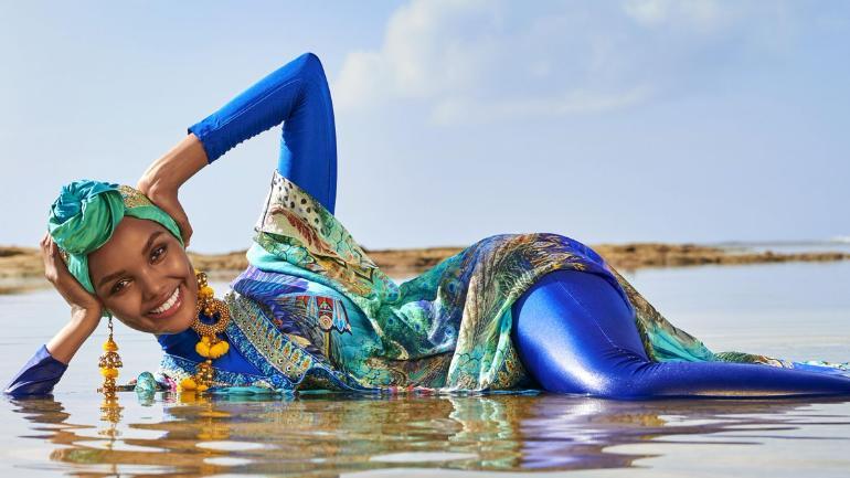 Muslim Supermodel Halima Aden Makes Swimsuit Issue History