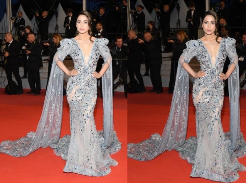 Television Actress Hina Khan Makes Sparkling Debut At Cannes