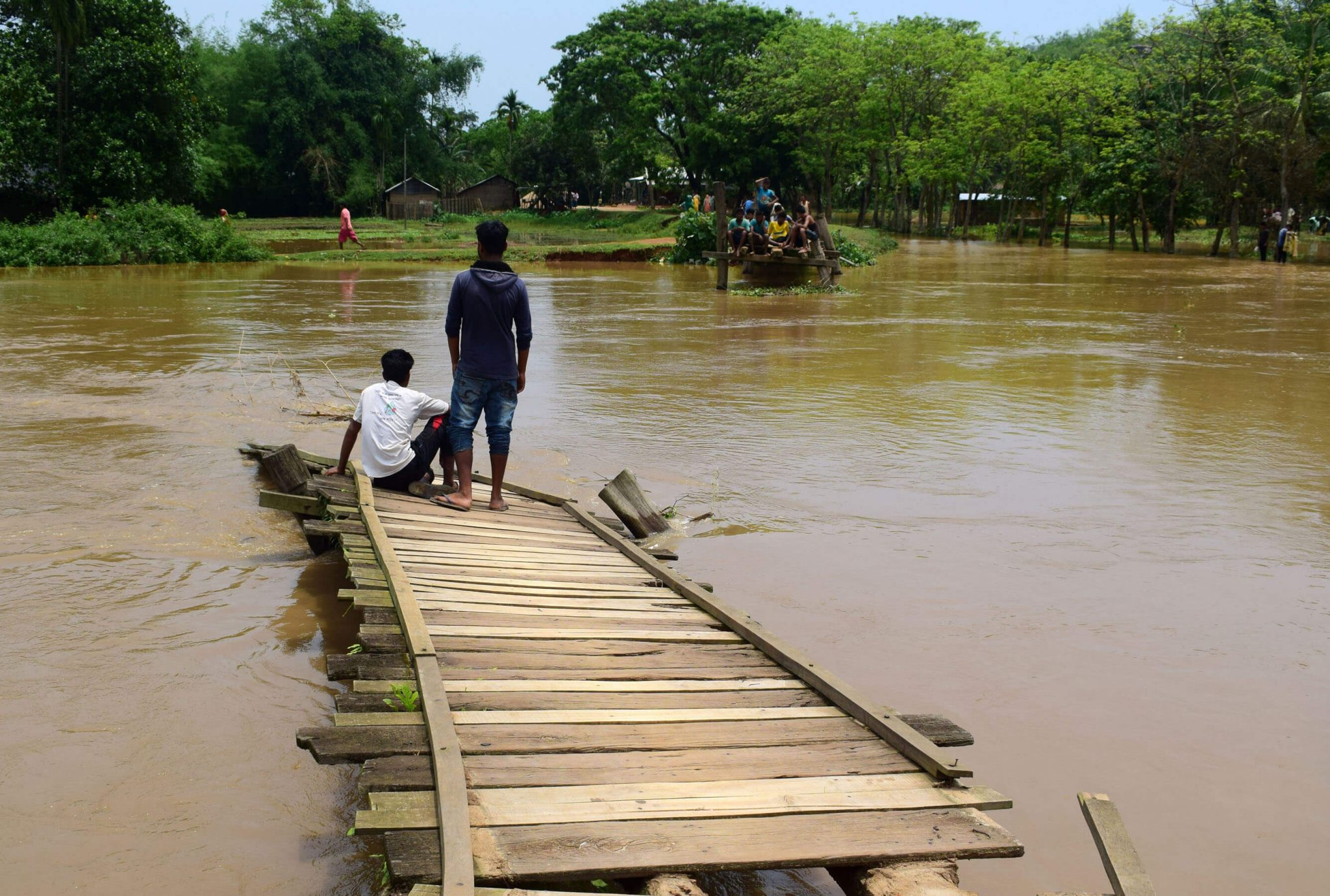 Paddy fields inundated due to heavy rain in Boko as an aftereffect of cyclone Fani