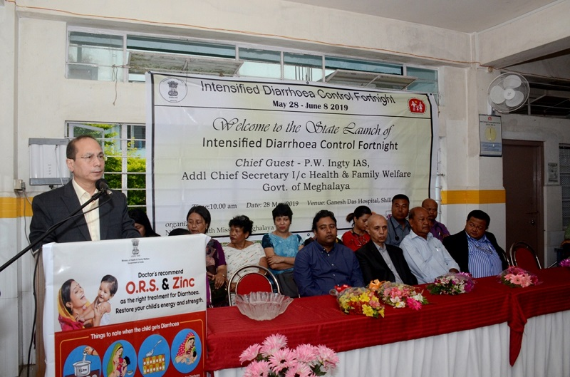 Intensified Diarrhoea Control Fortnight launched to control childhood diarrhoea mortality rate in Meghalaya
