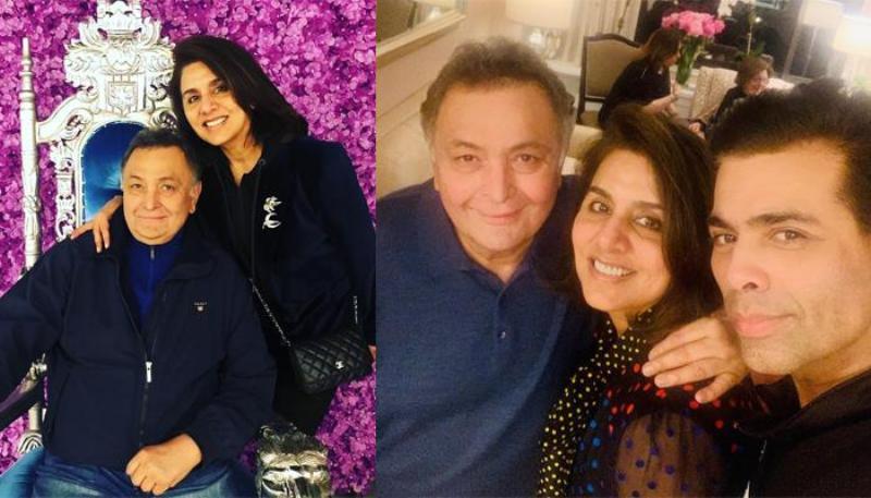Karan Johar Meets 'Favourite Couple' Rishi Kapoor, Neetu In New York
