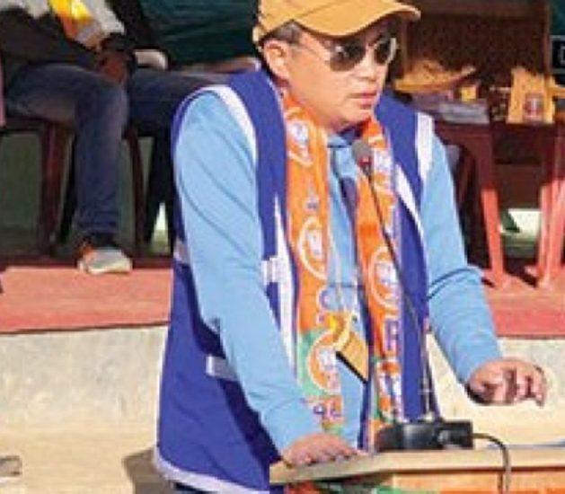 Bharatiya Janata Party's MLA candidate Nyamar Karbak warns Intellectual Support Group of stern action