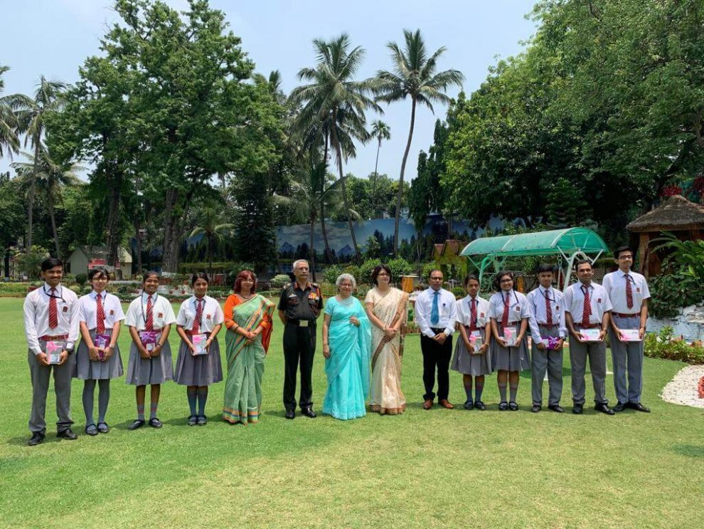 Meritorious students of Army Public School functioning in