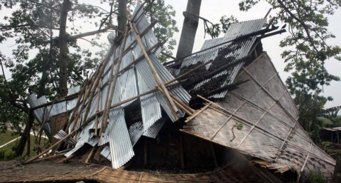 Violent storm leaves trails of destruction in Namsai