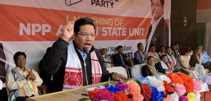 National People's Party–North East Coordination Committee conference on June 8 in Shillong