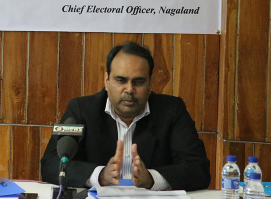 Nagaland Chief Election Officer Abhijit Sinha says vote counting will take place on May 23 from 8 am onwards