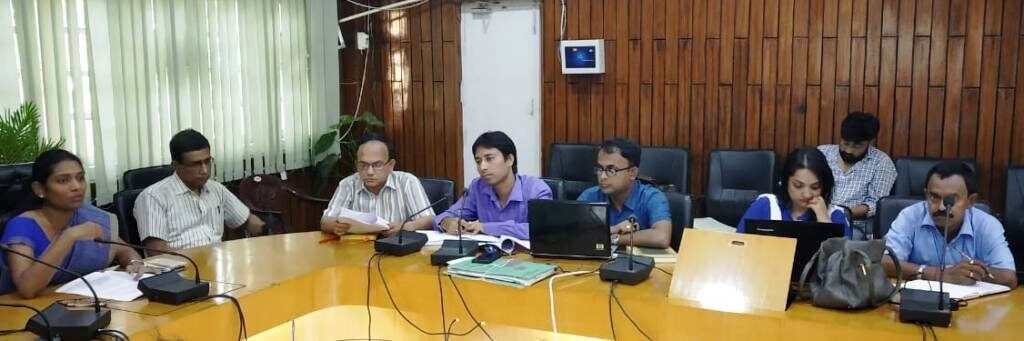 Review meeting on cleanliness held at the conference hall of the Deputy Commissioner Laya Madduri