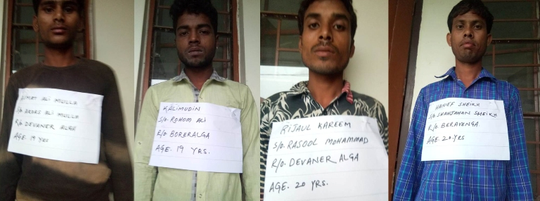 BSF apprehended four cattle smugglers from border areas of South Salmara, 10 cattle heads recovered