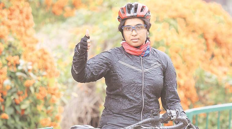Young lady Jyothi Rongala cycles across India for world record